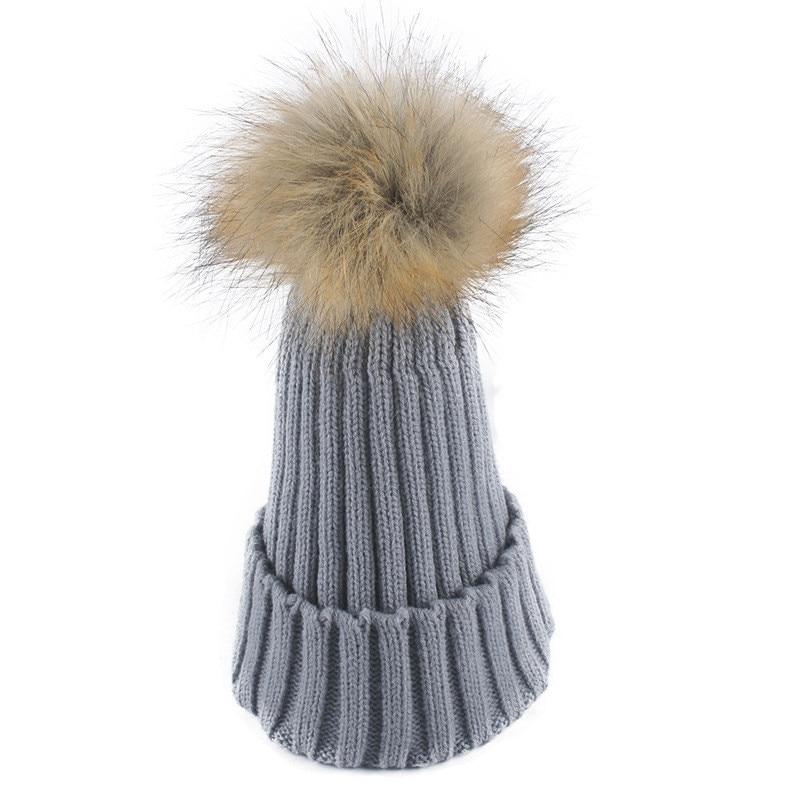 Winter Knitted Skull Hat Scarf Wool Blend Women Scarf Cap Warm Knit Pompon Caps