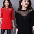 2017 Новый Зимний Длинный Участок Европейских И Американских Тенденция Женщины Мода Шею Пуловеры Свободные Свитера