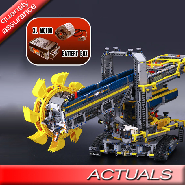 Dhl Electric Motors Functions Bricks Compatible With Lego 42055 Lepin 20015 Technic Bucket Wheel Excavator Building Blocks