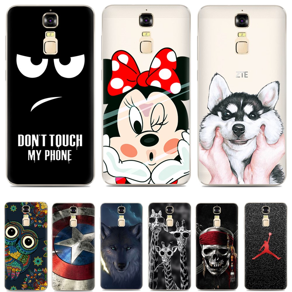 hot sale online d9dd6 f4af9 US $2.69 10% OFF|TPU Cover for ZTE Blade A610 Plus cover,Cartoon TPU Case  for ZTE Blade A2 Plus case Gel Phone Skin Bag Painted Soft TPU-in Fitted ...