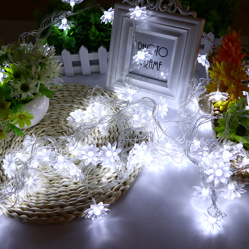 New 10M 100 LEDS Fairy Garlands Strings Lotus LED String Lights Decoration Para Christmas Holiday Lighting