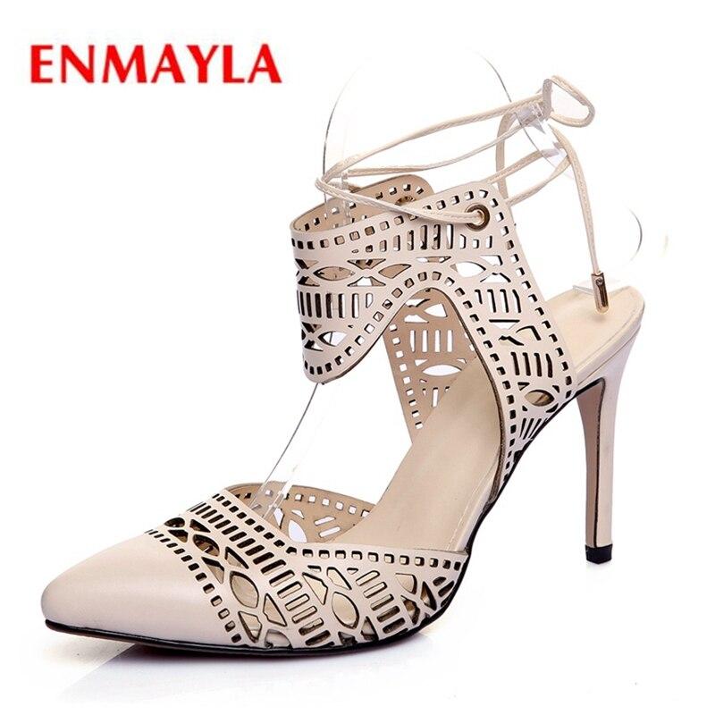 2646af2a Cuero 2019 34 Zapatos De Mujer Sandalias sandalias Genuinos Zyl2401 Enmayla  Tacón Encaje Tamaño Casuales 40 Alto Beige qACIfxwp