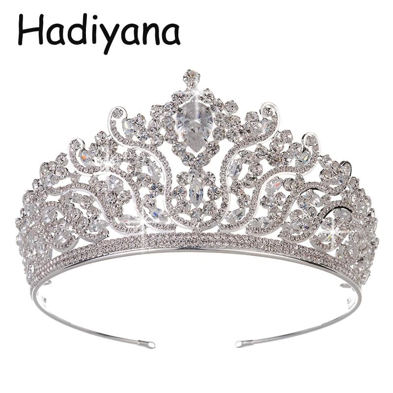 Haryanvi Luxe Queen Sieraden Hoofdtooi Crown Hoofdband Hot Bruid Grote Bal Crown Wedding Party Accessoires HG6064-in Haarsieraden van Sieraden & accessoires op  Groep 1