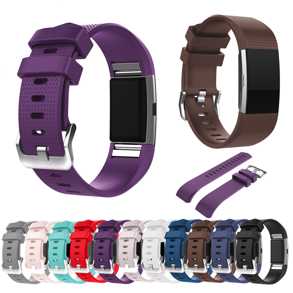Fashion Smart Watch Band Sports  Color Original  Smart Watch Strap Wristband For Bracelet  Fitbit Charge2  Silicone Replacement watch band wrist band wristband women men bracelet double color silicone strap smart wristband bracelet for xiaomi miband 2 p5