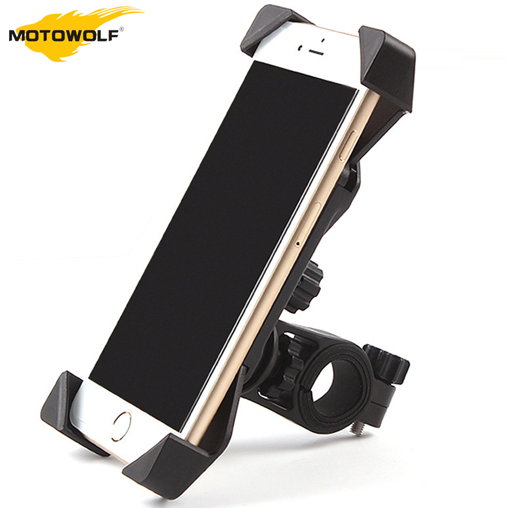 MOTOWALF Motorcycle Phone Holder 360 Degree Rotating Universal Bicycle Bracket Motorcycle Holder for iPhone Samsung GPS sx 005 360 degree rotating vehicle general magnetic phone mount holder