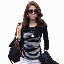 summer 2014 t-shirt women printed t shirt short sleeve top fashion tees cotton o-neck stripe lady plus size S~3XL