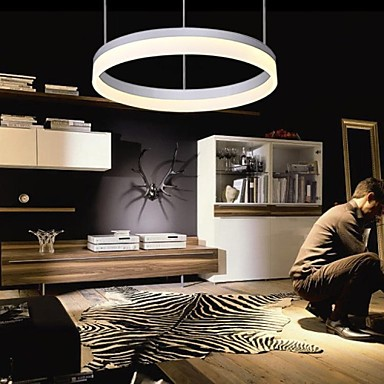 40CM  Acrylic Round Modern LED Pendant Light Lamp For Living Room Lighting , Lustres E Pendentes De Sala new design acrylic modern led pendant lighting lamp with 6 lights for dining room foyer lustres e pendentes de sala ac