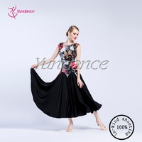 Черный Костюмы для бальных танцев платье для Для женщин Костюмы для бальных танцев практика Платья для женщин Вальс Танго Одежда для танцев
