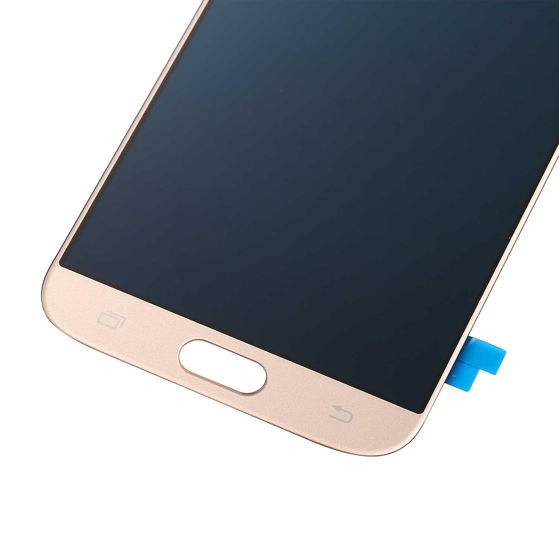 5.5 بوصة سوبر AMOLED شاشات الكريستال السائل لسامسونج غالاكسي J7 برو AMOLED 2017 SM-J730 J730F شاشة الكريستال السائل مع مجموعة المحولات الرقمية لشاشة تعمل بلمس