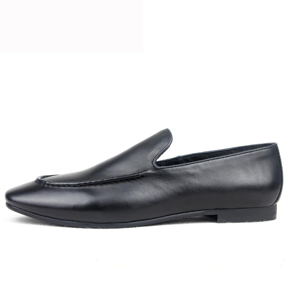 Mycolen Italienischen Beiläufige Brown Marke Müßiggänger Fashion apricot Schuhe Luxus Männer Uomo Slip Auf Scarpe Für Schwarzes Leder Neue 8q6rT8