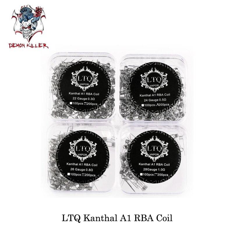 (200 unids/lote) demon Killer kanthal A1 RBA bobina 22GA 0.3ohm/24GA 0.5ohm/26GA 0.8ohm/28GA 1.0ohm Elektronik sigara para rta RDA rdta