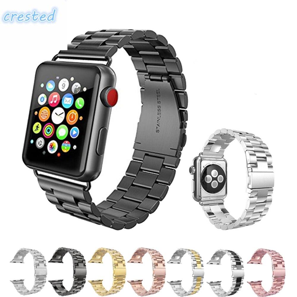 Luxus Edelstahl metall Strap für apple watch band 42mm 38mm link armband handgelenk gürtel Armband für iWatch 3 /2/1 uhr band