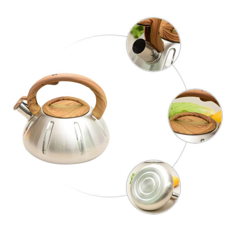 3L 304 bouilloire en acier inoxydable gaz grande capacité ustensiles de cuisine bouilloire d'eau Portable Pot d'eau avec poignée en bois