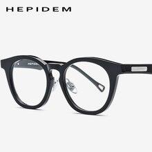 0e2bc2904 النظارات البصرية إطار الرجال النساء جديد ديب نظارات الكمبيوتر شفافة نظارات  العلامة التجارية تصميم خلات خمر جولة نظارات 9005