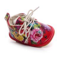 Bebê Recém-nascido Meninas Meninos Floral Berço Sapatos Macios Sole Anti-slip Tênis SEP6 Q35