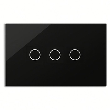 Bseed 240v Touch Light Switch 3 Gang 2 Way Touch Sensor Switch With Glass Panel Black Touch Switch Us Au Eu Uk k1rf ltech one way touch switch panel ac200 240v input can work with vk remote page 2