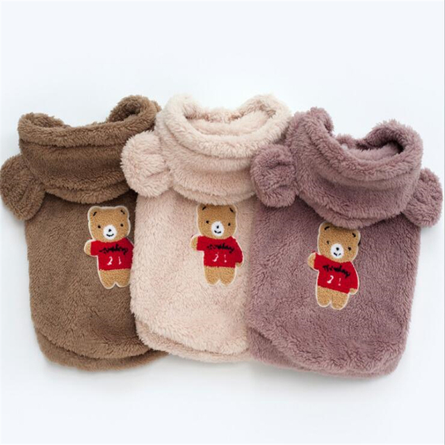 Warm Dog Clothes For Small Dogs Soft Winter Pet Clothing For Dog Clothes Winter Chihuahua Clothes Cartoon Pet Outfit