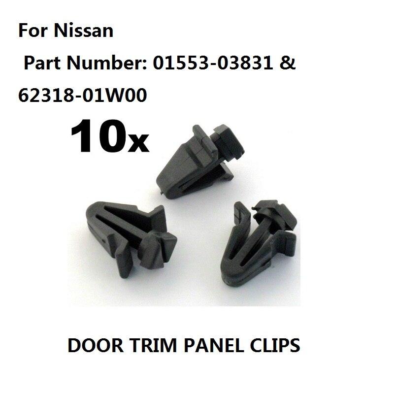 10xWHEEL Interior ARCH Trim Panel Carpet Clips Rivet For BMW E36 E34 E39 E46 E38