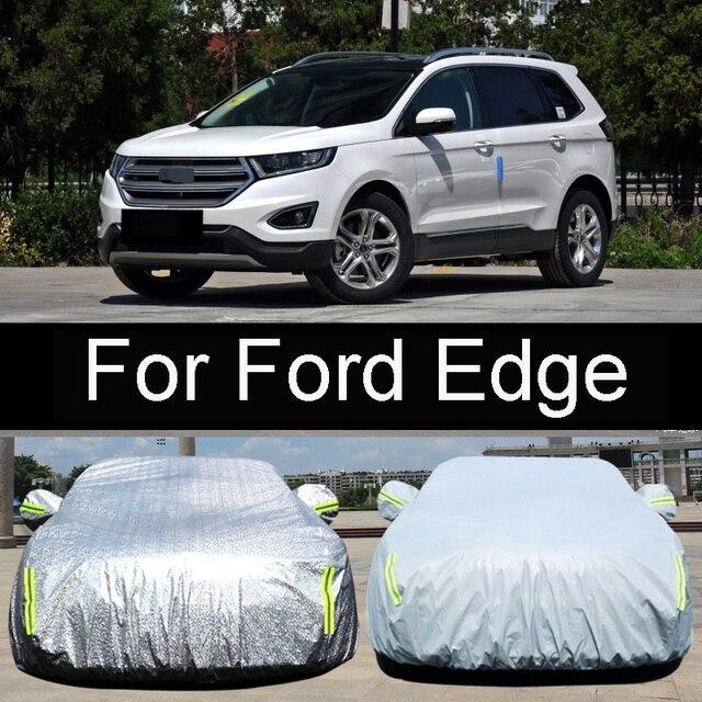 Hithotwin Car Garment Sharp Sun Rain Snow Frost Dust Cover Car Set For Ford Edge Special