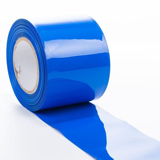 5 متر/وحدة 120 مللي متر وضع مسطح العرض بولي كلوريد الفينيل تغليف الانكماش الحراري أنبوب أزرق اللون لحزمة البطارية 18650