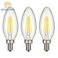 Bombilla LED E14 2 W/4 W led lámpara LED Edison Bombilla 2700 K-3500 K blanco Caliente/Vintage Retro simple práctico LED Filamento de la Bombilla de Luz fría