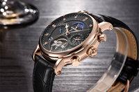 binssaw для мужчин часы механические турбийон роскошные модные брендовые мужские кожаные спортивные часы для мужчин с автоматические часы Relogio мужчина для