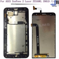 For ASUS ZenFone 2 Laser ZE550KL Z00LD LCD Display Touch Screen Digitizer Assembly With Frame For ASUS ZE550KL LCD