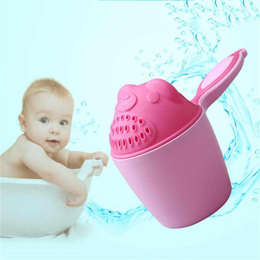 2019 taza de baño de oso de dibujos animados para bebé, taza de champú para ducha de chico recién nacido, cuchara de agua para ducha de bebé, taza de baño para 2 colores