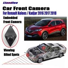 """Liandlee Auto Vista Frontale Della Macchina Fotografica Logo Incorporato Per Renault Koleos Kadjar 2016 2017 2018 4.3 """"Monitor LCD Schermo Accendisigari"""