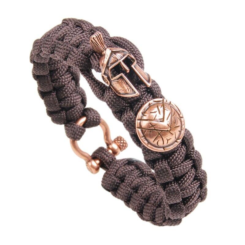 New Men Bracelet Sparta Warrior Luxury Camping Outdoor Survival Handmade Bracelets Women Bracelets Jewelry Pulseira Masculina