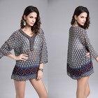 Save 1.77 on 2017 Vintage Casual Chiffon Beach Tropical Summer Style Dress Femininas Fashion Print Vestidos De Festa Women Dress