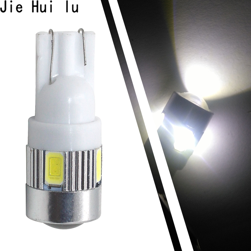 1pcs T10 194 W5W Canbus 6 SMD 5630 5730 LED Light Bulb No Error Auto Clearance Lights Side Lamp parking Fog Lamp auto габаритные огни lx t10 10 5630 20