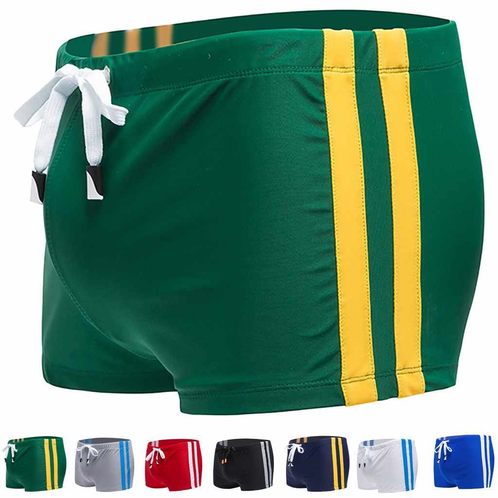 Hot sell swimming Trunks Men's Boxers Beach shorts Swimwear  trunks Sexy Hot springs Sports suit Men Swimsuit 2.0#