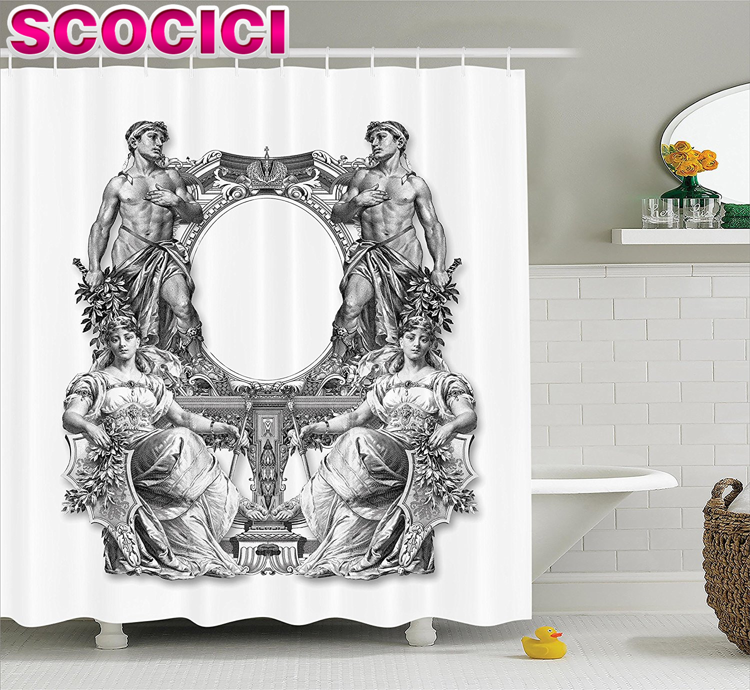 Victorian Decor Shower Curtain Set Old Victorian Frame Two Man And Two  Woman Ancient Baroque Crown Princess Bathroom Accessories. Princess Bathroom Accessories Promotion Shop for Promotional