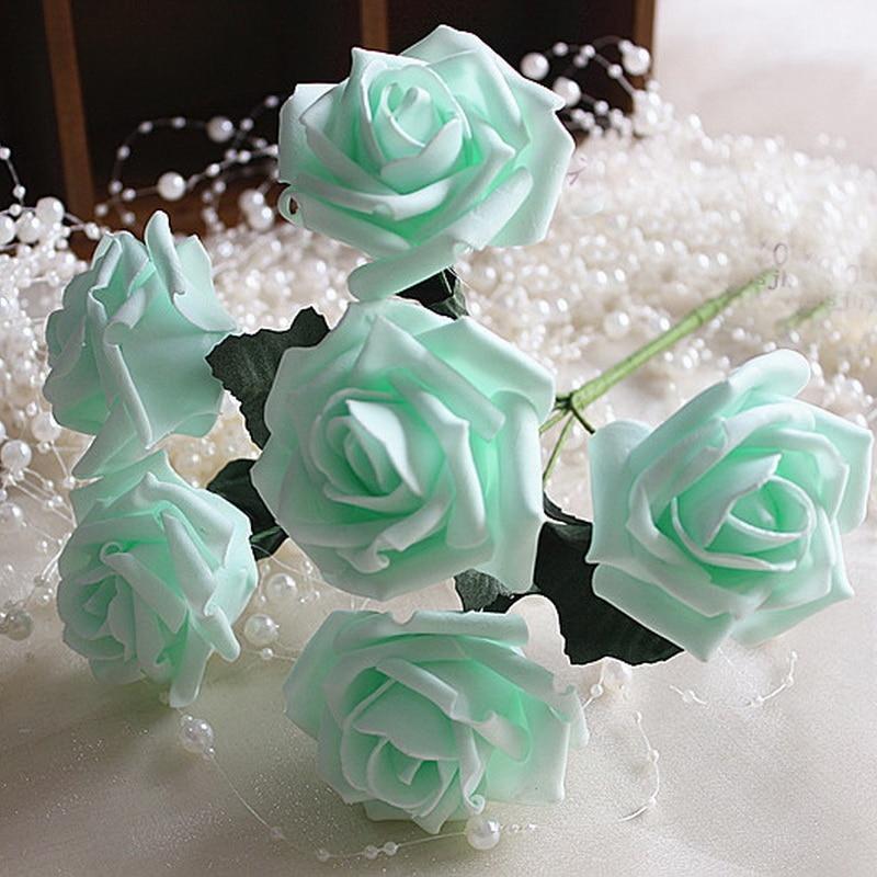 Mint Wedding Flowers: Mint Rose Flowers Artificial Foam Roses 72pcs Fake Flowers