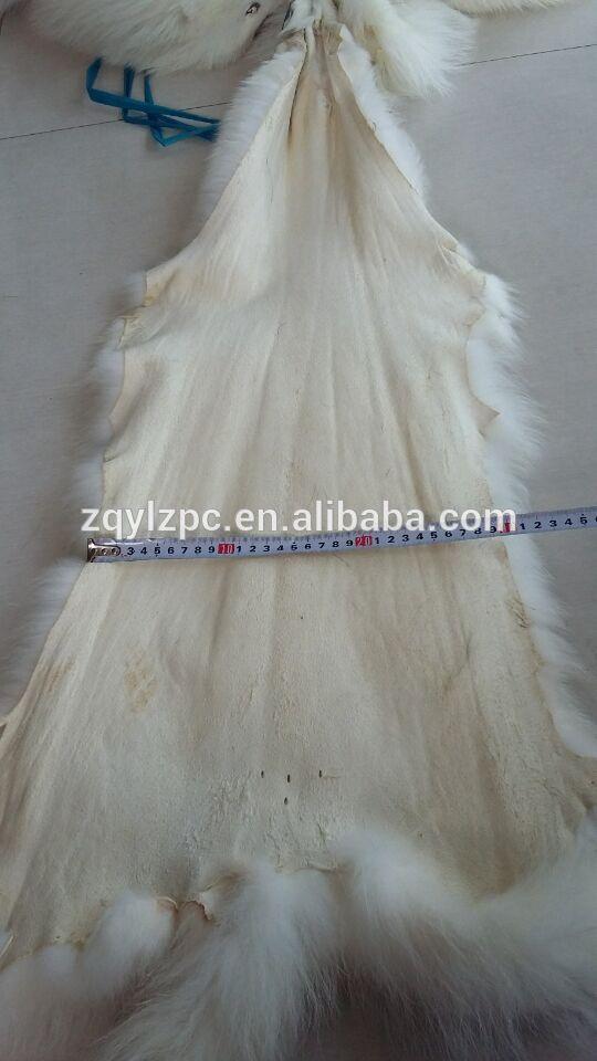 Peau de fourrure de raton laveur blanc peau de fourrure de raton laveur réelle - 5