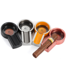GALINER Metal Cigar Ashtray Travel Outdoor Ash Tray 1 Slot Portable Cigarette For Car Ashtrays COHIBA Cigars