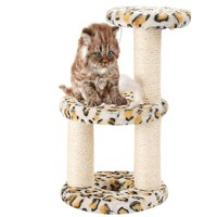3 Layers Home Pet Cat Climbing Tree Scraper Pole Board Hanging Toy Activity Center Cat Jump Foot Furniture