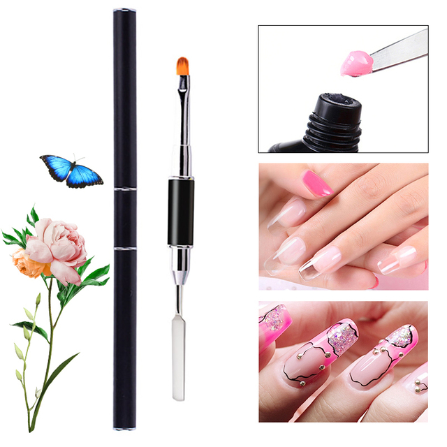 Poly Gel Brush Pen Nail Gel Brush Dotting Sculpting Liner Pen Dual