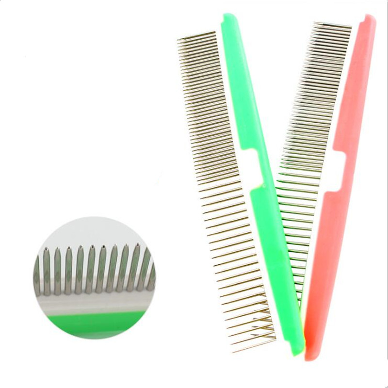 Hot Sale 2 Color High Quality Dog Comb Fashion Design Grooming Comb For Dogs Salon Wholesale Pet Grooming
