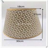 Lamp shade for bedroom soft light household lamp bedside lamp housing