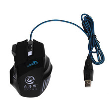Reliable 5 million cycle 3200DPI LED Optical 5 Button USB Wired Gaming Mouse For PC Laptop Game