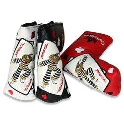 Гольф-мастер Poker Face глава Гольф-Джокер обложка чехол для короткой клюшки с магнитной застежкой головной убор для гольфа (3 цвета для вашего в...