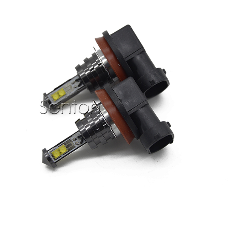 Newest 2Pcs Car Transformers H11 LED White Brake Driving Fog Lights 12V Spot DRL Lamp Bulb Kit automobiles accessories for opel astra h gtc 2005 15 h11 wiring harness sockets wire connector switch 2 fog lights drl front bumper 5d lens led lamp