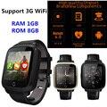 Android smart watch u11s mtk6580 quad core 1g ram 8 gb rom suporte 2G 3G WiFi GPS Monitor de Freqüência Cardíaca Smartwatch pk kw88 engrenagem s3
