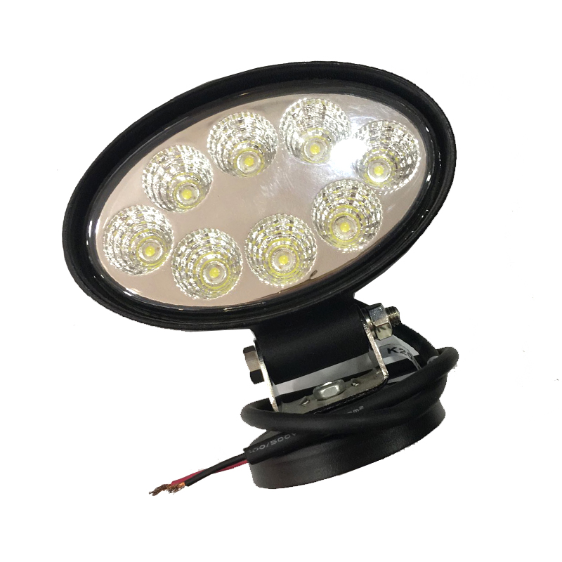 1pcs 6000k 24W Spot LED Working Light for SUV 4WD Offroad ATV Car Truck Tractor 8 LEDs Cup Reflection Headlight Fog DRL dysc30 20w spot 20w 2000lm suv auto working light