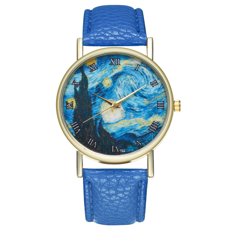 MJARTORIA Fashion Minimalist Women Watches Starry Sky Space Wrist Watch Women Leather Quartz Watch Dress Clock For Dropshipping