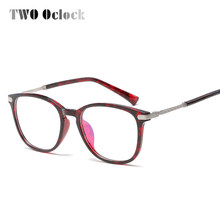 e21f0c46ea TWO Oclock 2017 Stylish Optical Glasses Women Men TR90 Eyeglasses Myopia  Degree Power Optical Frames Vintage oculos de grau 1631