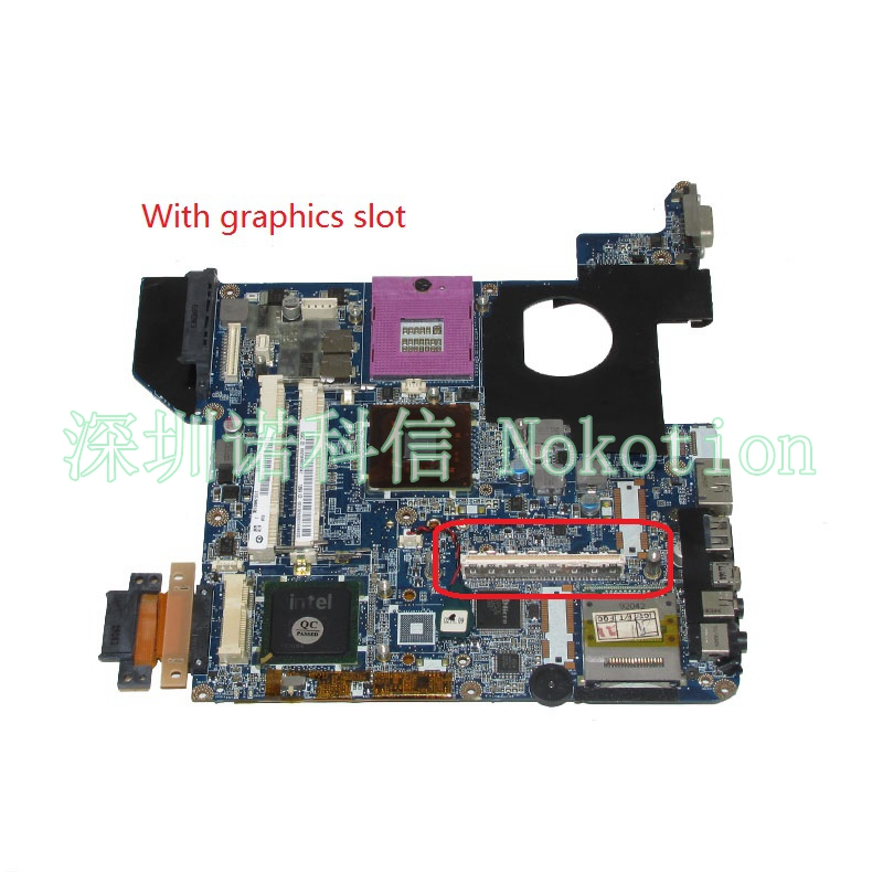 NOKOTION DATE1MMB8E0 Main board For toshiba Satellite U400 laptop motherboard GM45 DDR2 with graphics slot works free cpu v000225070 main board for toshiba satellite c650 c655 laptop motherboard 1310a2355303 gm45 ddr3 free cpu