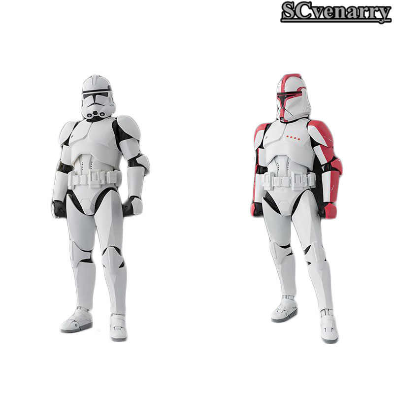 Star Wars Clone Trooper II FASE FASE I Capitão PVC Action Figure SHF S. h. figuarts Toy Collectible Modelo 15 cm Brinquedos Quentes